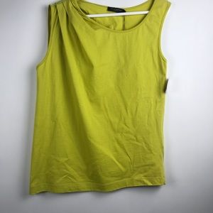 Piazza Sempione Ruched Shoulder Tank Citron It 46